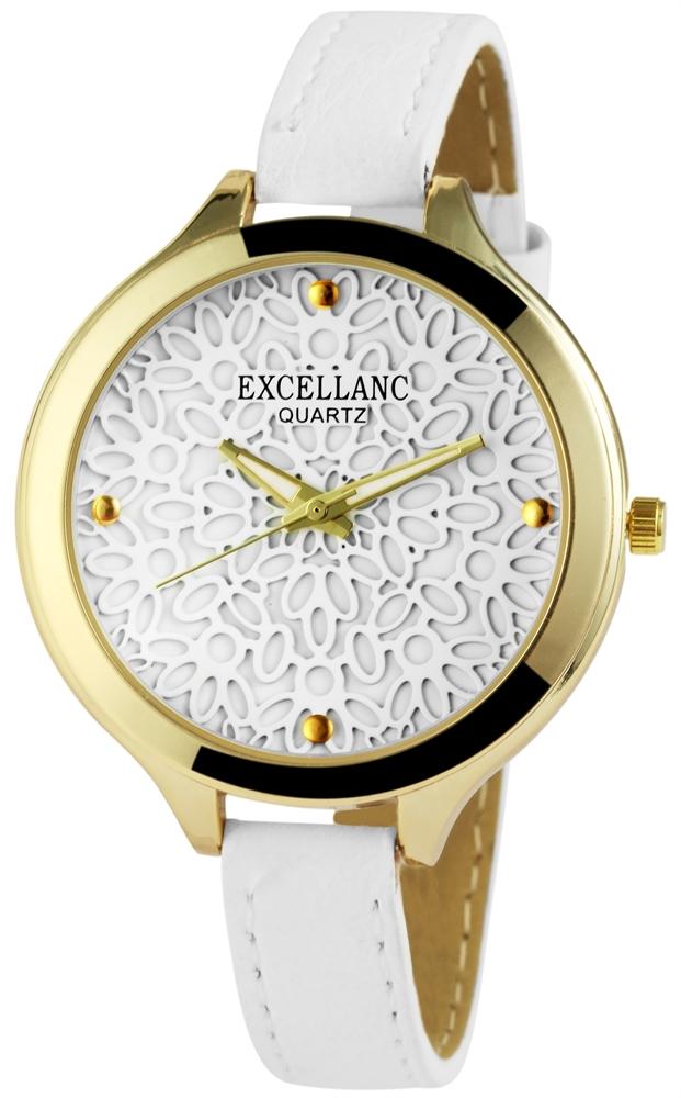 Damenuhr Weiß Gold Blumen Analog Quarz Metall Leder Armbanduhr D ...