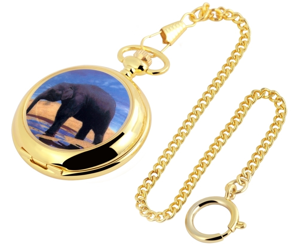 Pocket Watch White Gold Coat Of Arms Analogue Quartz Metal Fob W-180402000004600 Watches, Parts & Accessories Pocket Watches
