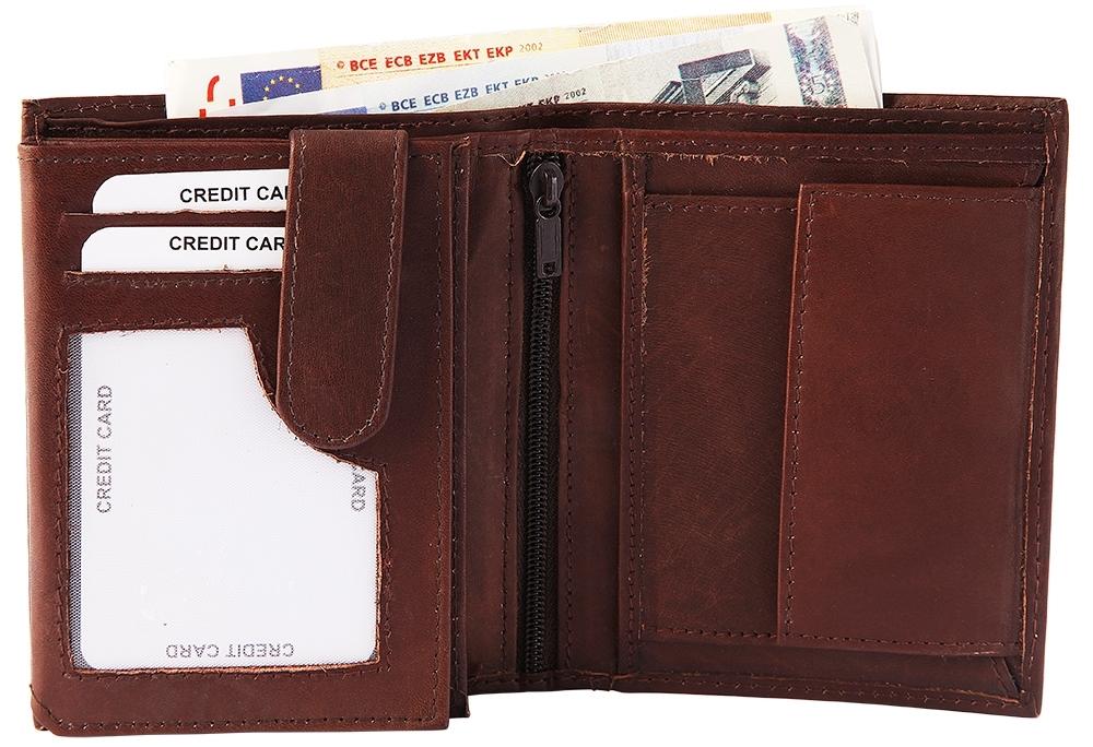 Herren-accessoires Liefern Leonardo Verrelli Herren-geldbörse 10 X 13 Cm Echtleder Portemonnaie X-3000221 Geldbörsen & Etuis